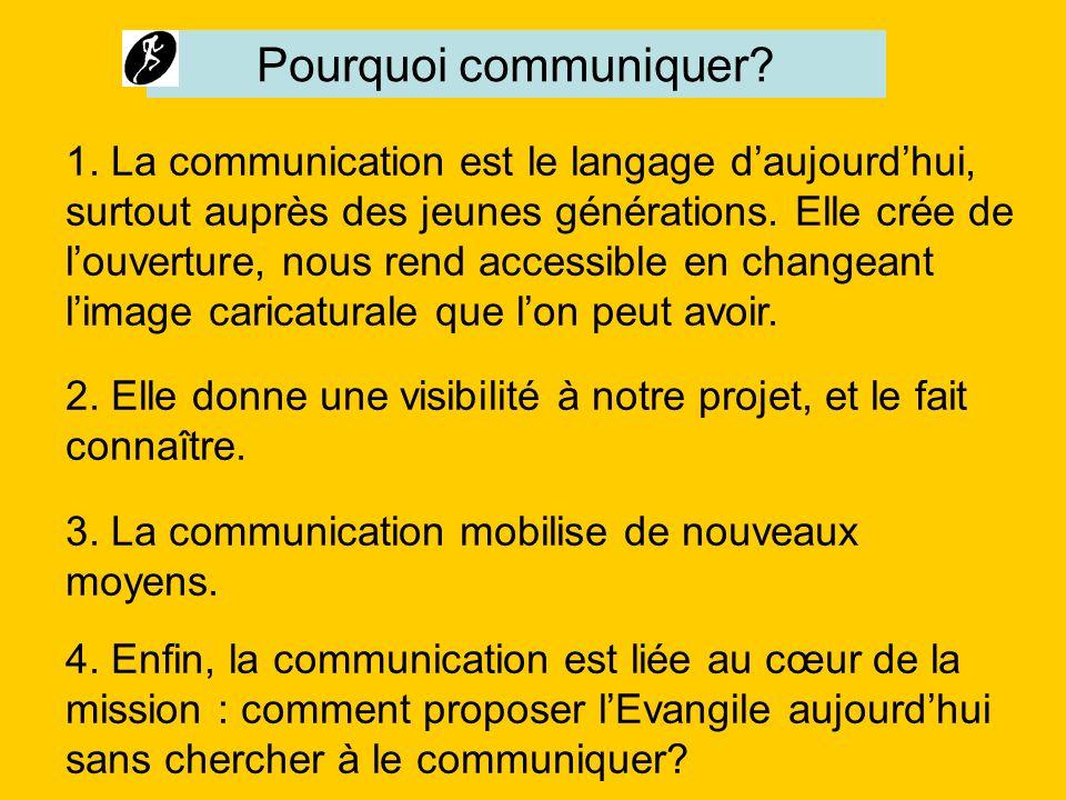 1. La communication est le langage daujourdhui, surtout auprès des jeunes générations. Elle crée de louverture, nous rend accessible en changeant lima