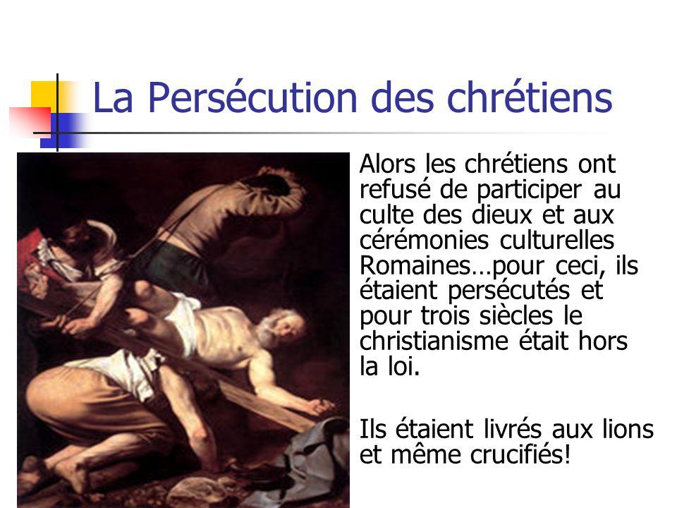 Le Réseau Routier et le christianisme LEmpire et son armée ont contribué à sa propre cession avec son réseau routier…le réseau a facilité la diffusion du christianisme partout dans lEmpire…et peu à peu, le chef spirituel à Rome (le Pape) a eu plus de pouvoir que lEmpereur!