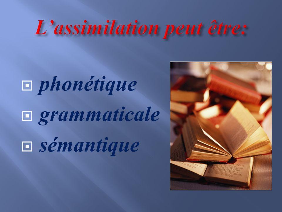 phonétique grammaticale sémantique