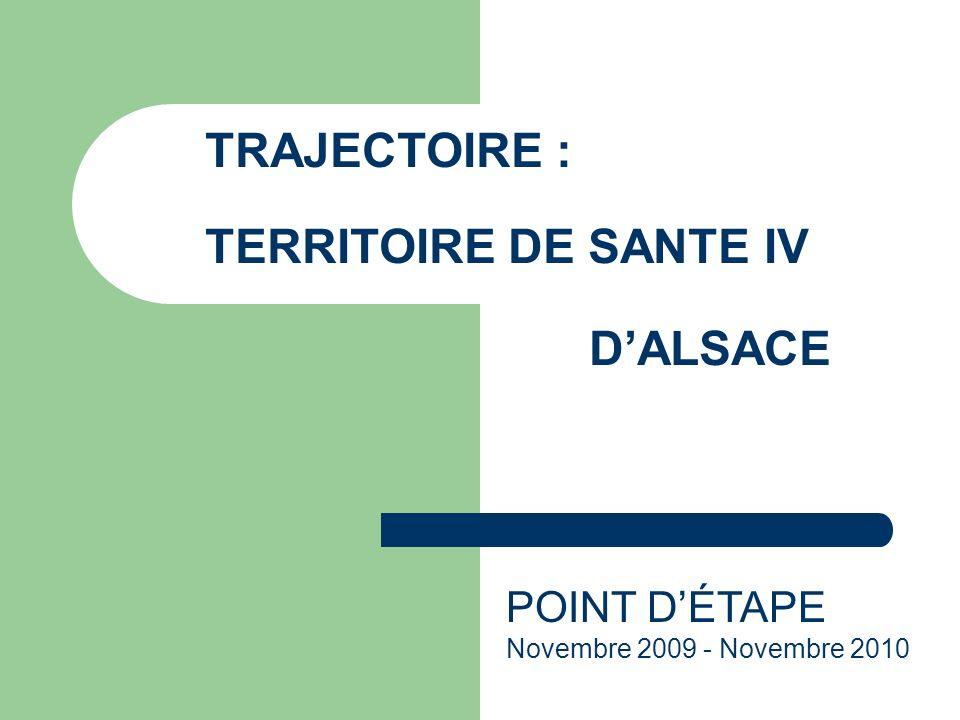 TRAJECTOIRE : TERRITOIRE DE SANTE IV DALSACE POINT DÉTAPE Novembre 2009 - Novembre 2010
