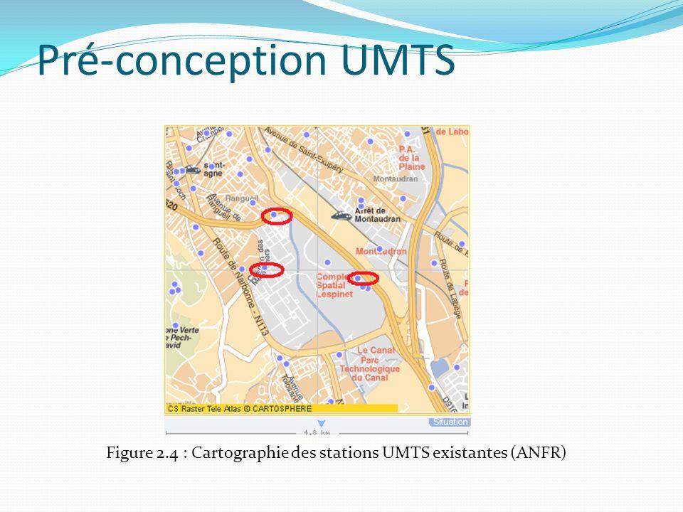 Pré-conception UMTS Figure 2.4 : Cartographie des stations UMTS existantes (ANFR)