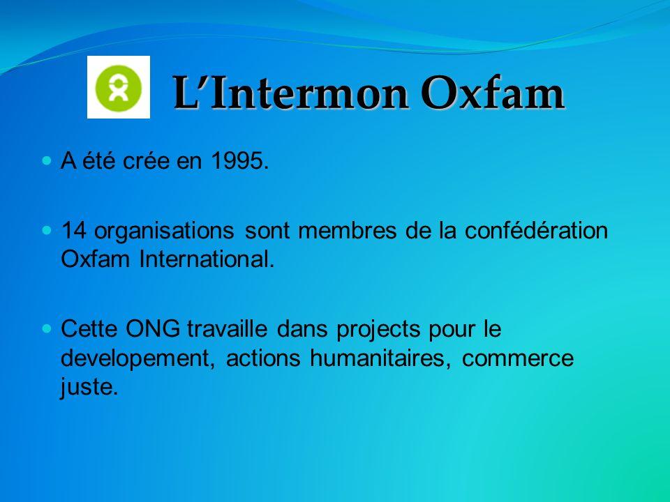 LIntermon Oxfam A été crée en 1995.