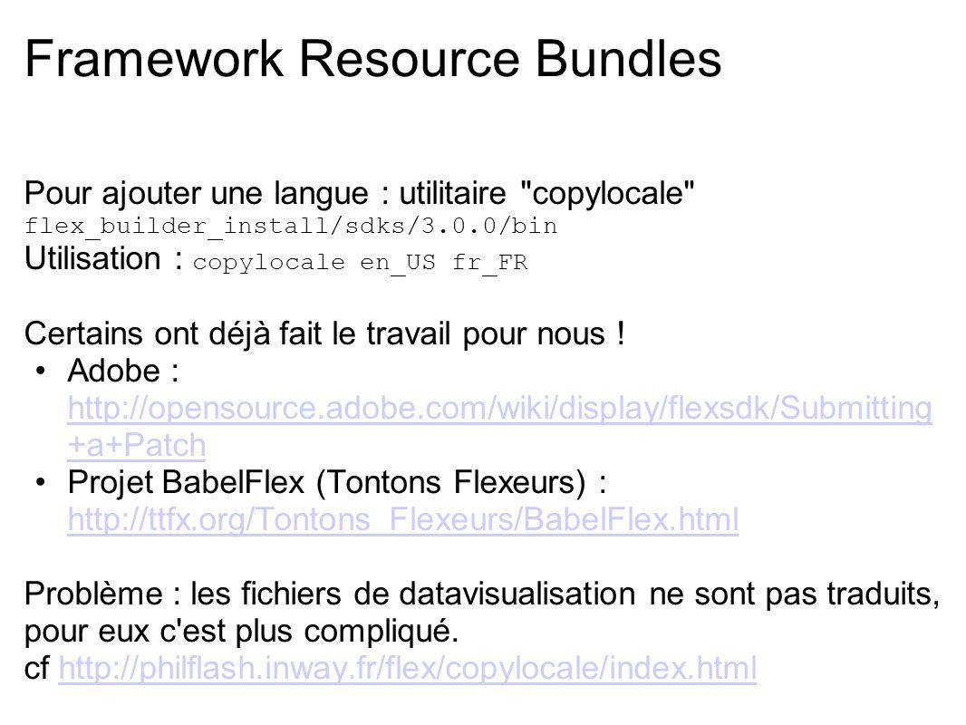 Framework Resource Bundles Pour ajouter une langue : utilitaire
