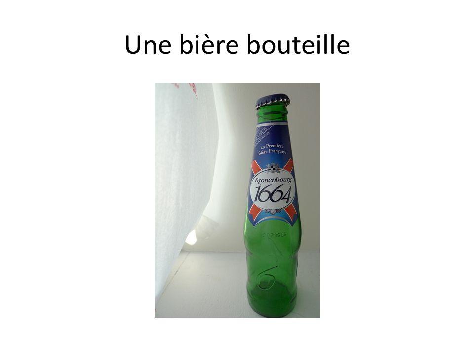 Une bière bouteille