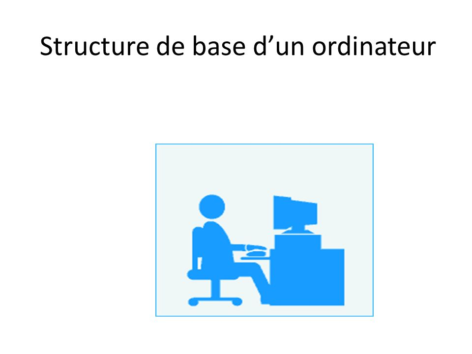 Structure de base dun ordinateur
