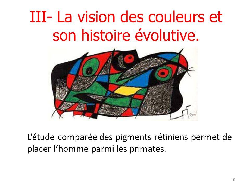21/04/12 Tous les Primates possèdent deux ou trois gènes des opsines (pigments rétiniens).