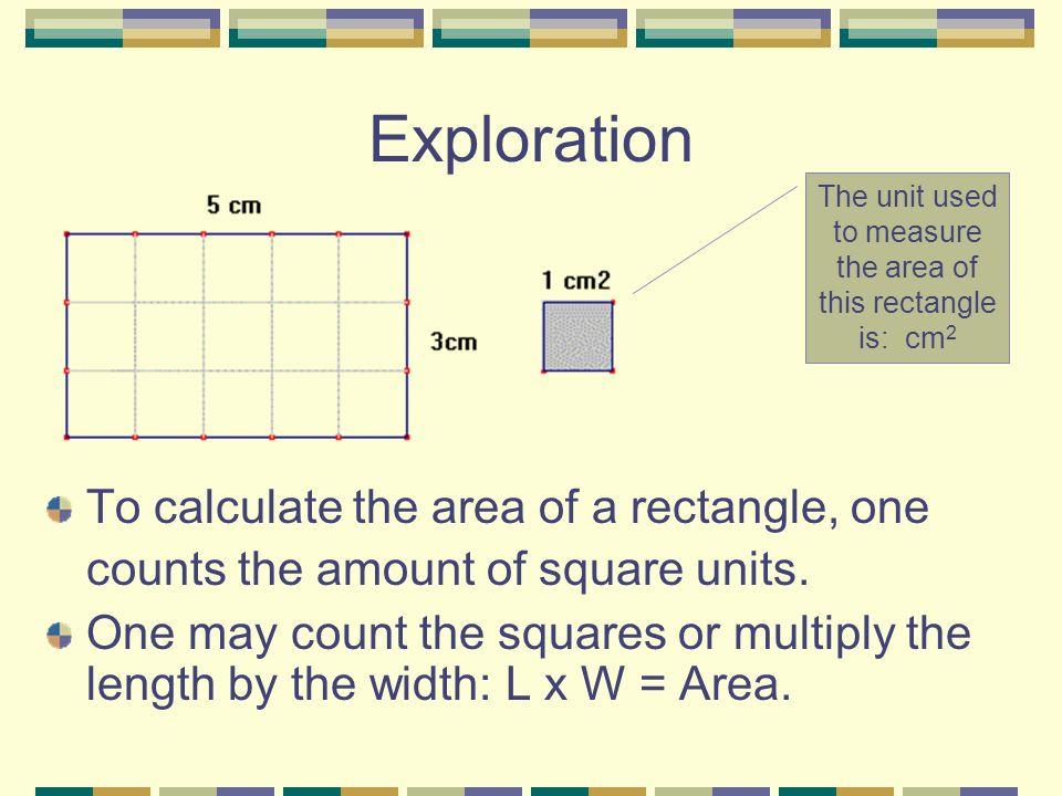 Règle DÉFINITION Laire est la mesure dune surface.