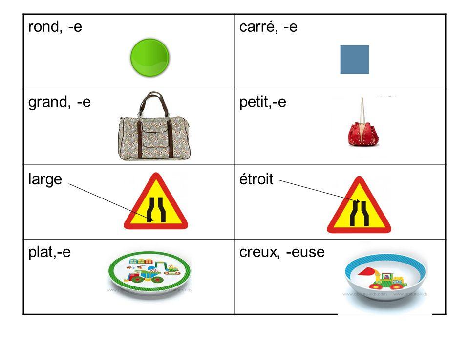 rectangulairetriangulaire court, -elong, -e haut,-ebas,-se cylindriquecubique