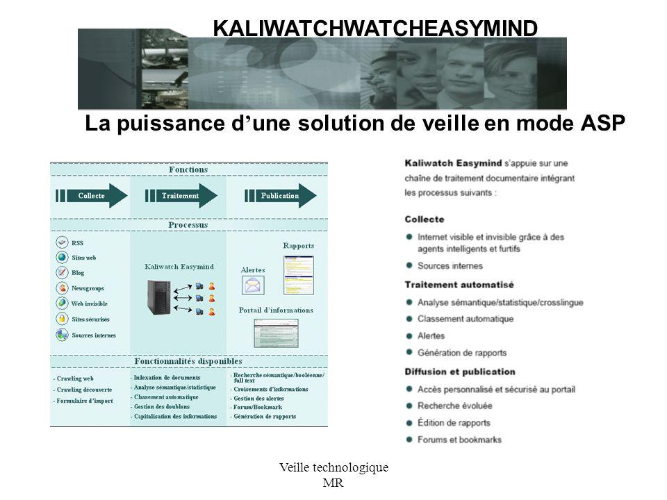 Veille technologique MR KALIWATCHWATCHEASYMIND La puissance d une solution de veille en mode ASP