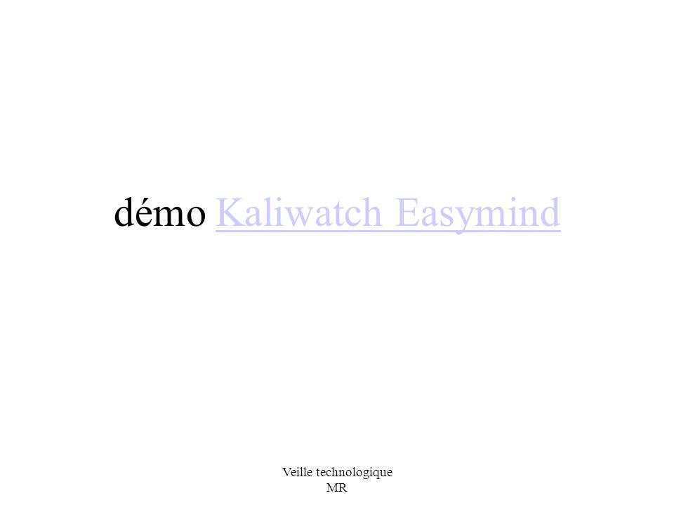 Veille technologique MR démo Kaliwatch EasymindKaliwatch Easymind