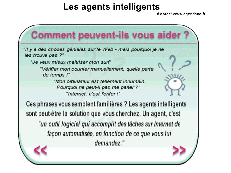 Veille technologique MR Les agents intelligents daprès: www.agentland.fr