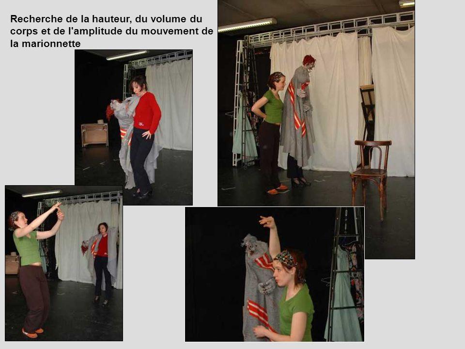 Recherche de la hauteur, du volume du corps et de l'amplitude du mouvement de la marionnette