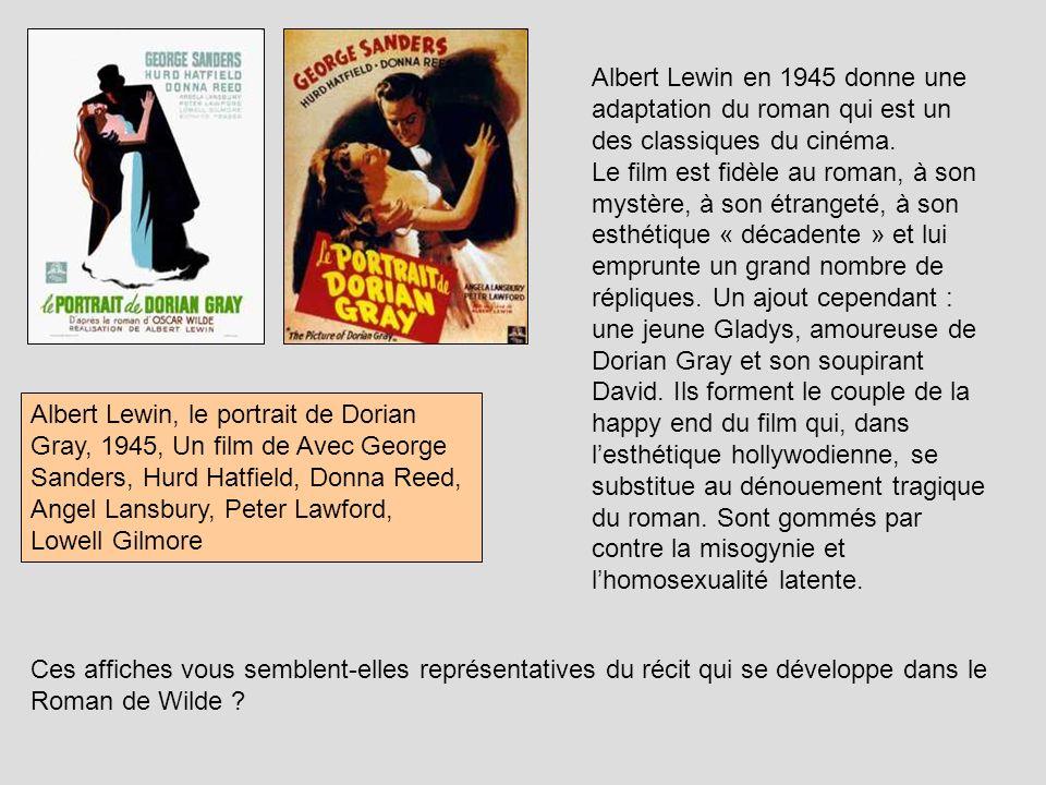 Albert Lewin, le portrait de Dorian Gray, 1945, Un film de Avec George Sanders, Hurd Hatfield, Donna Reed, Angel Lansbury, Peter Lawford, Lowell Gilmo