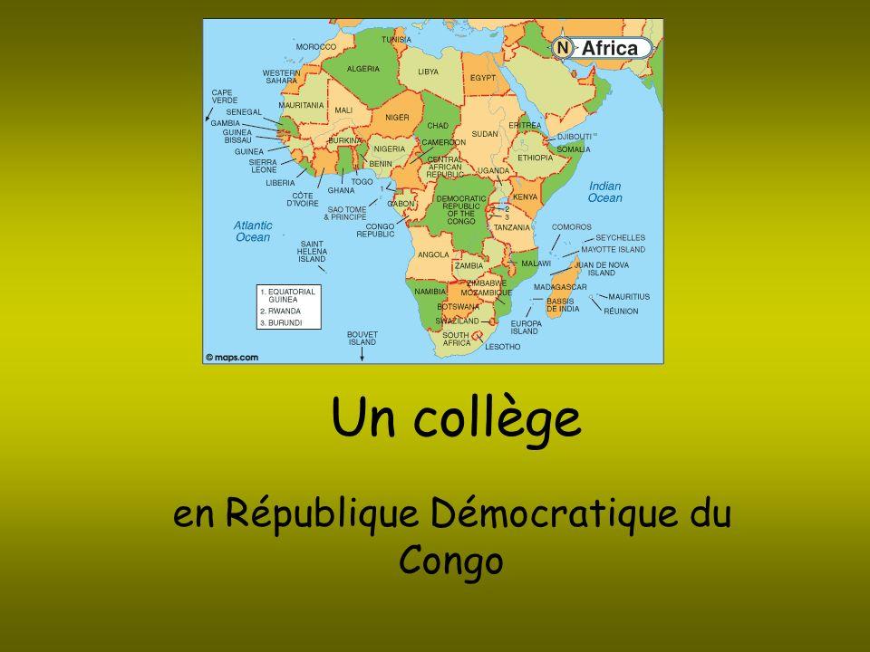 La carte de la RDC