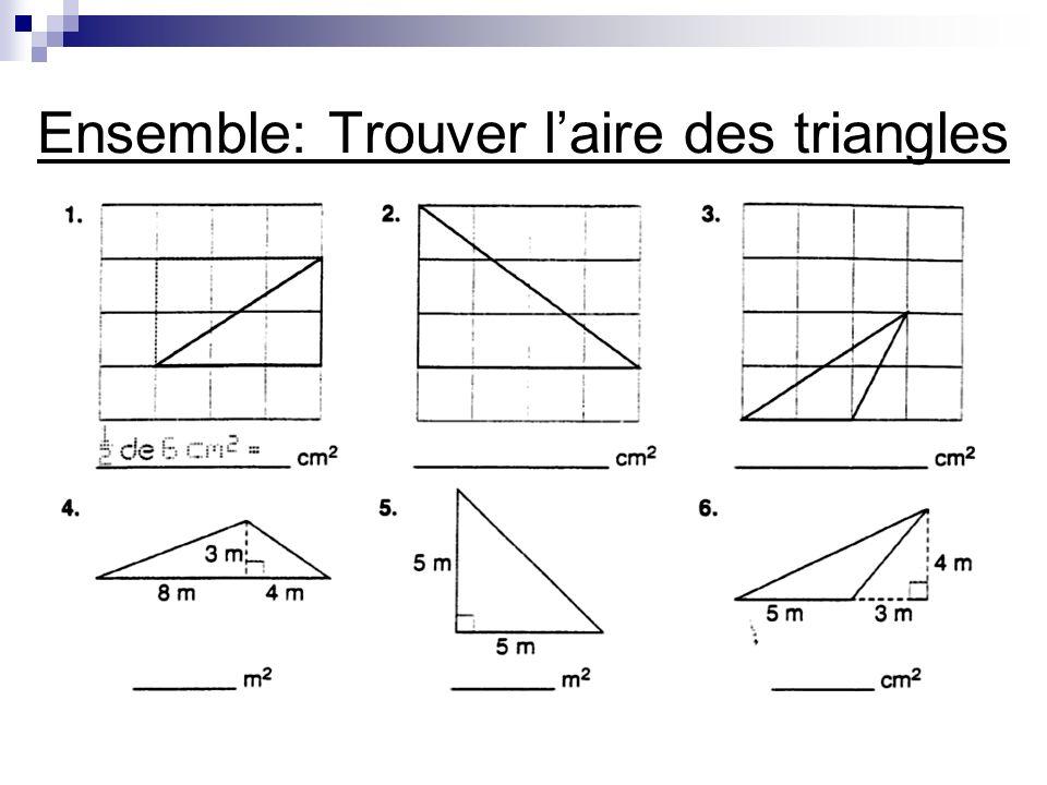 Ensemble: Trouver laire des triangles