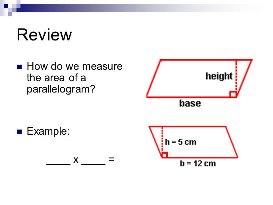 Si tu coupes un parallélogramme en 2.