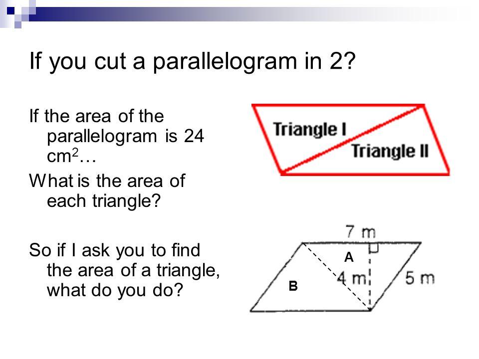 Règle: (Base x Hauteur) 2 Pour trouver l aire d un triangle, multiplie sa base par sa hauteur puis divise par 2.