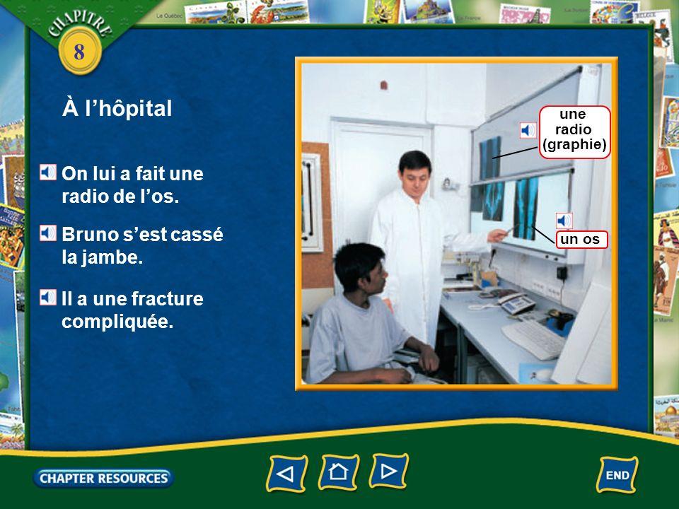8 À lhôpital un formulaire Bruno est arrivé au service des urgences.
