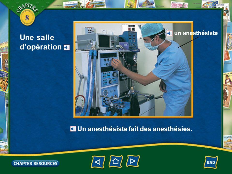 8 À lhôpital prendre le pouls faire une piqûre prendre la tension ausculter