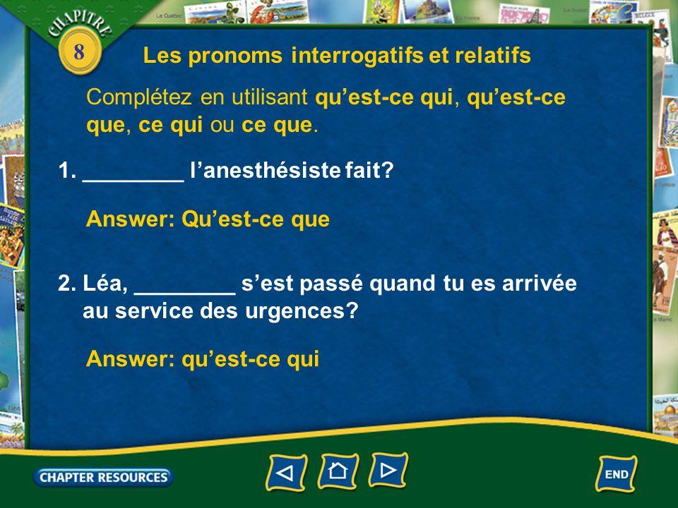 8 Question directe Question indirecte 3.Compare the following forms.