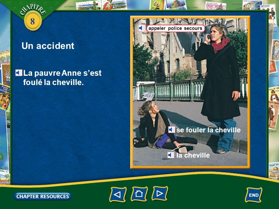 8 Un accident glisser tomber