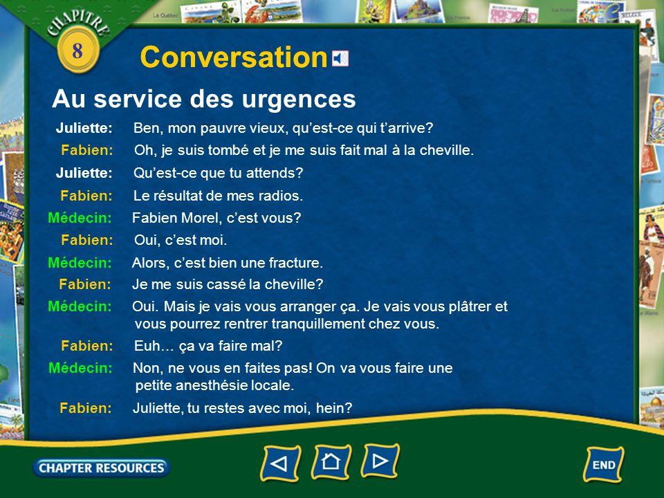 8 Au service des urgences Conversation