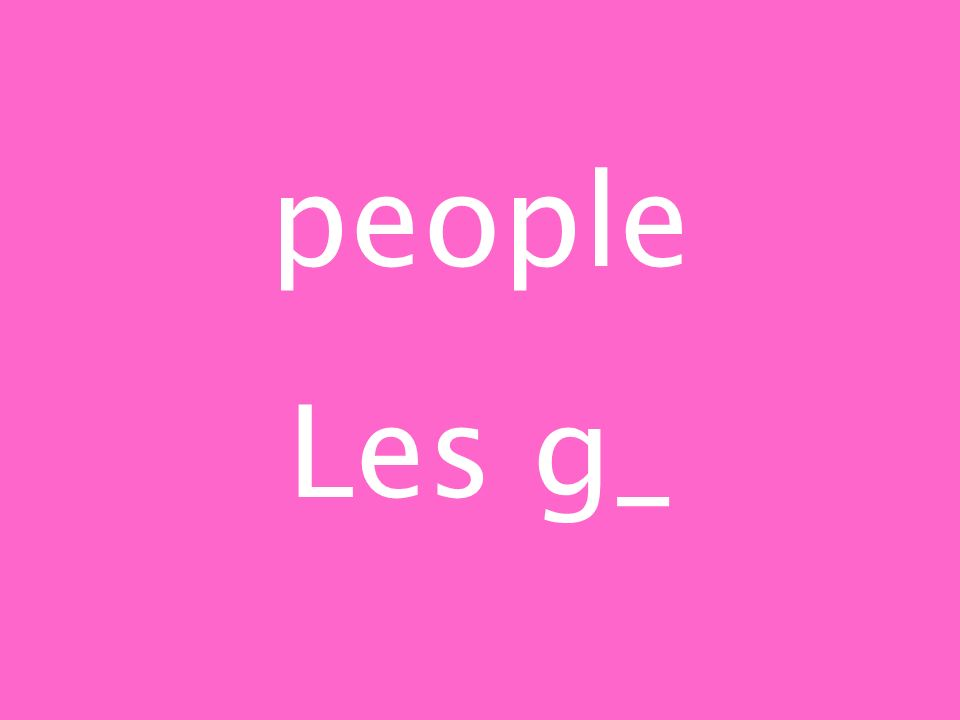 people Les g_