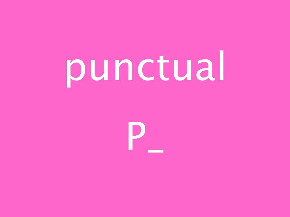 punctual P_