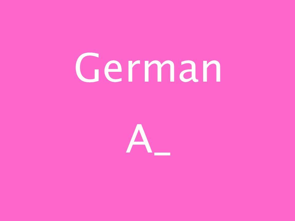 German A_