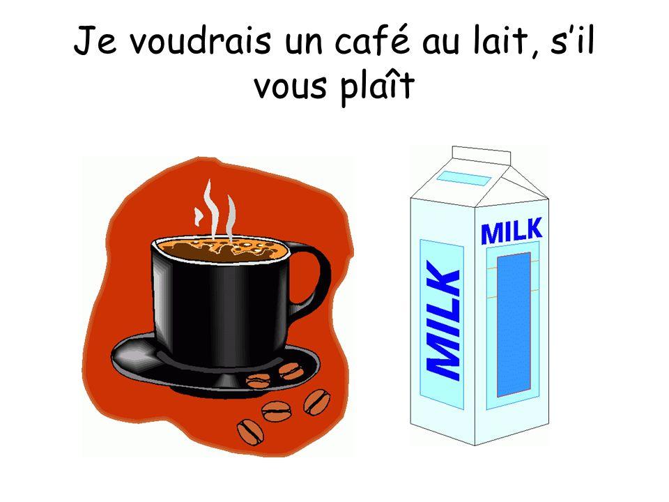 Je voudrais un café au lait, sil vous plaît