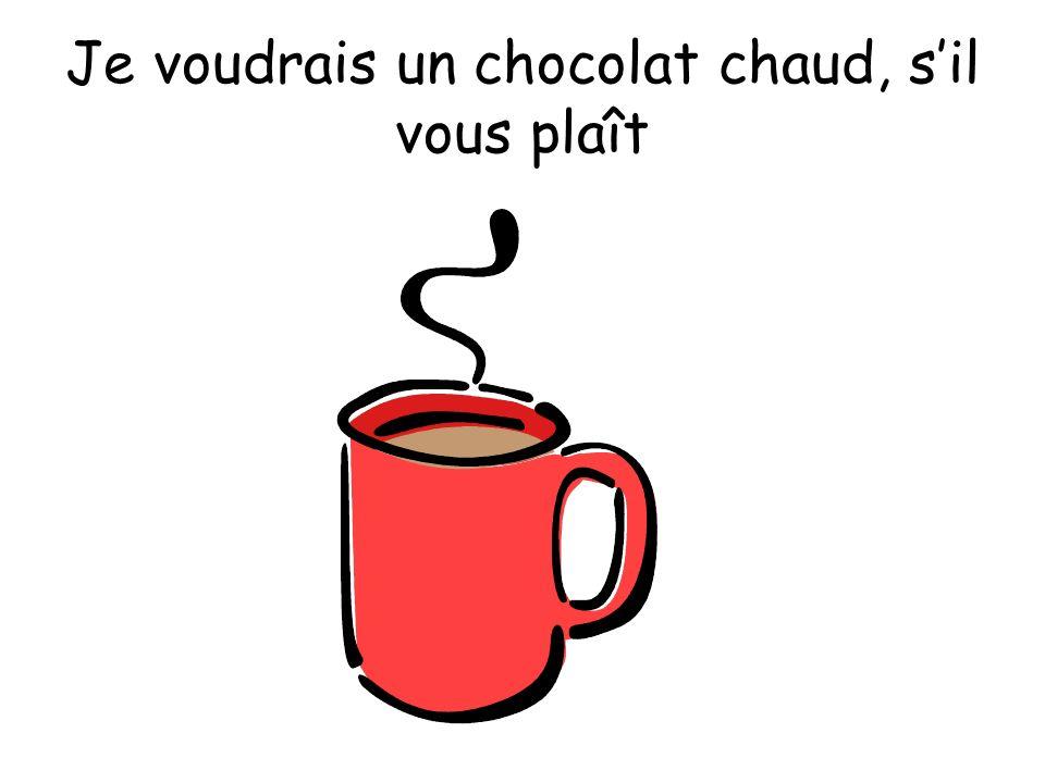 Je voudrais un chocolat chaud, sil vous plaît