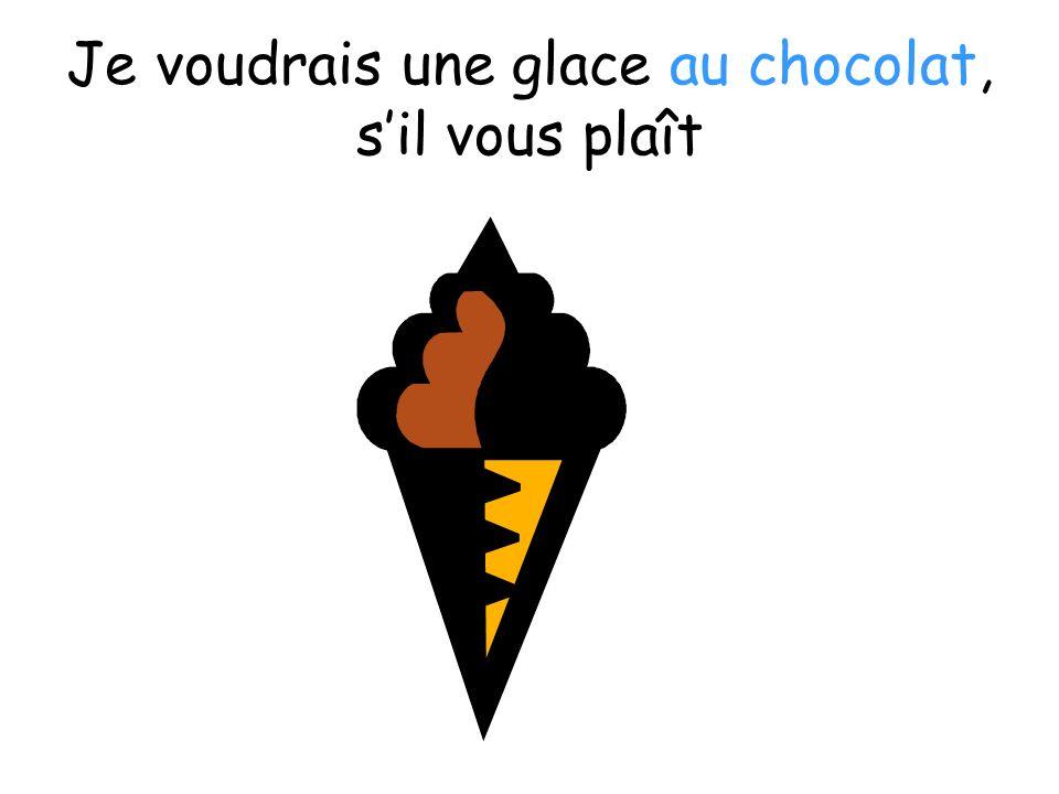 Je voudrais une glace au chocolat, sil vous plaît