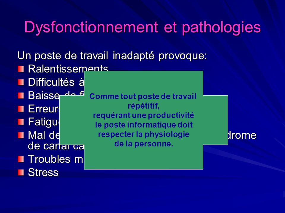 Postures forcées Attention !... Attention !...