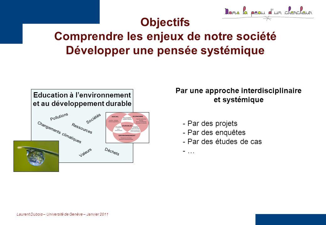 Laurent Dubois – Université de Genève – Janvier 2011 Apprendre à faire des liens