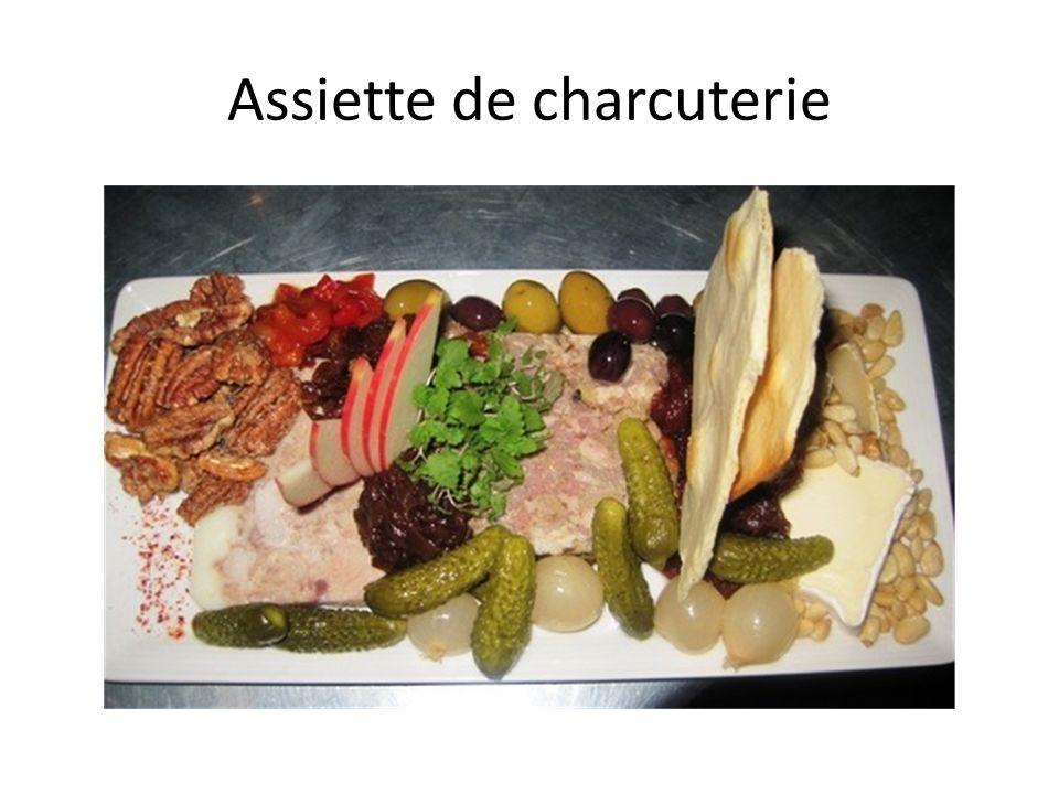 Assiette de charcuterie