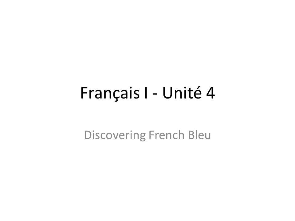 Français I - Unité 4 Discovering French Bleu