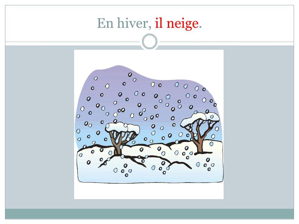 En hiver, il neige.