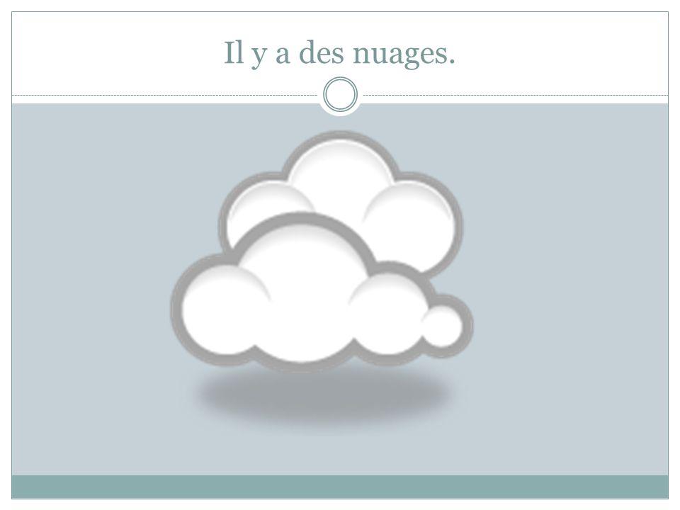 Il y a des nuages.