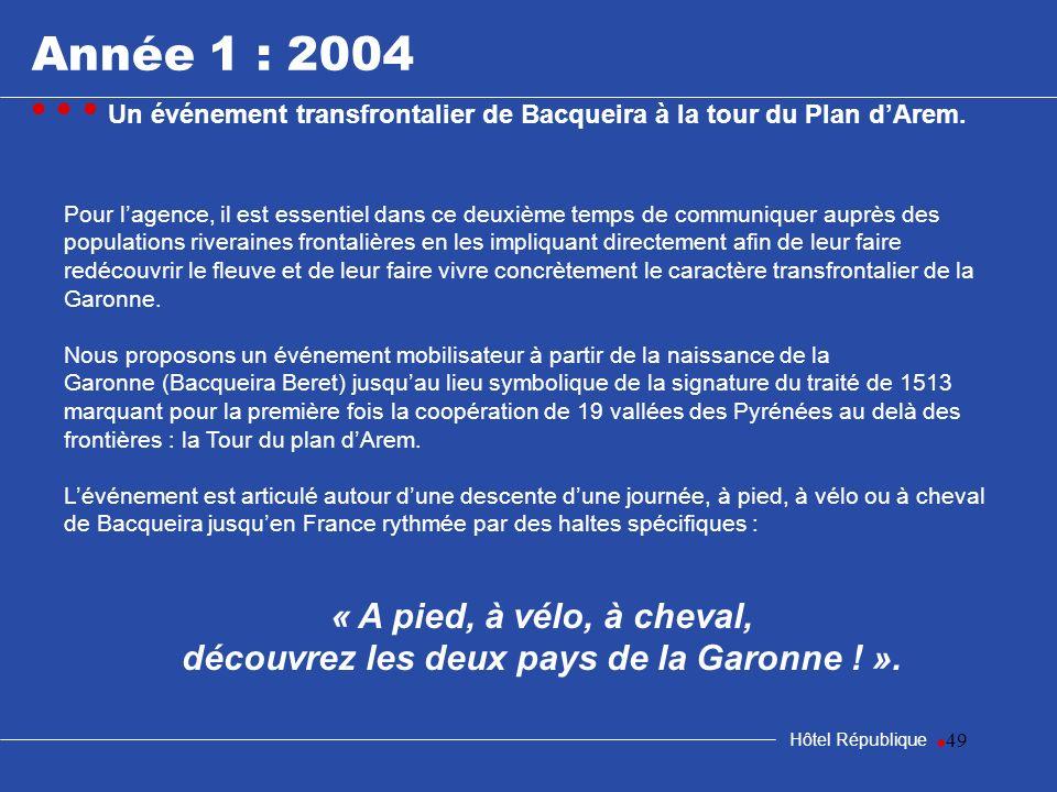 49 Hôtel République Pour lagence, il est essentiel dans ce deuxième temps de communiquer auprès des populations riveraines frontalières en les impliqu