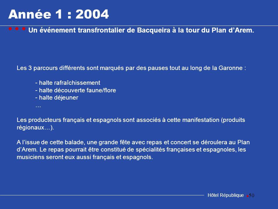 50 Hôtel République Les 3 parcours différents sont marqués par des pauses tout au long de la Garonne : - halte rafraîchissement - halte découverte fau