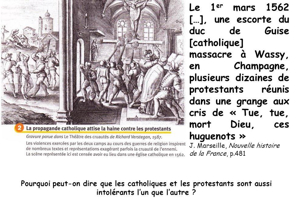 Ci-dessous, livre dont est extrait cette double page Daprès ce texte, qui a mis fin aux guerres de religion et permet dassurer la paix religieuse.