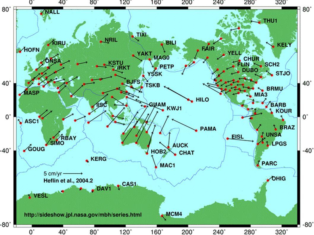 I/ Des plaques lithosphériques sont en convergences TP1: Convergence et données GPS Les mouvements des plaques tectoniques peuvent être mis en évidence par des mesures de positionnement GPS (Global Positioning System).