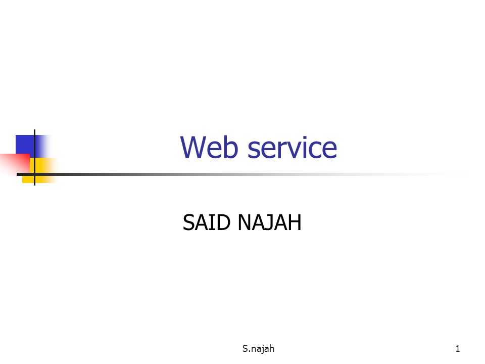 S.najah1 Web service SAID NAJAH
