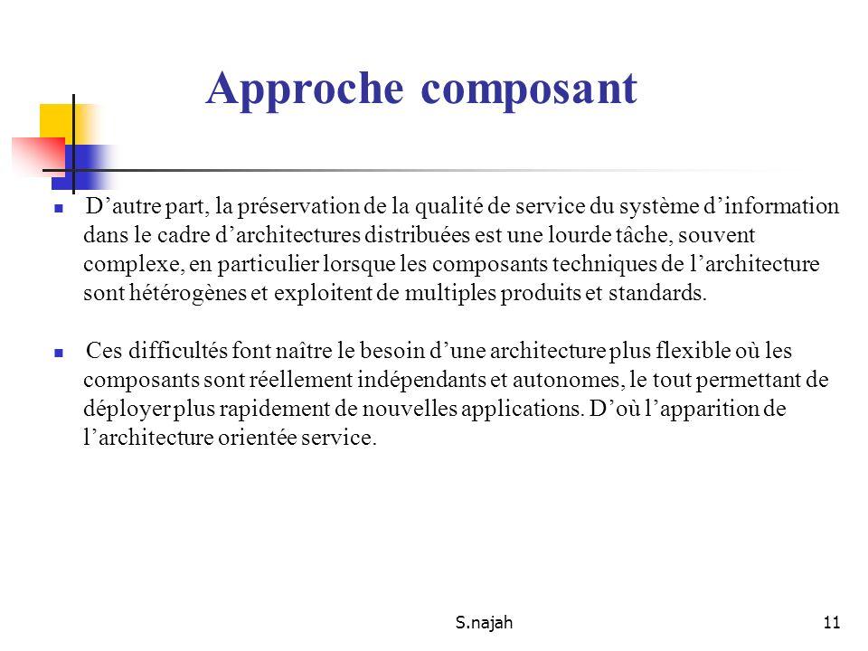S.najah11 Dautre part, la préservation de la qualité de service du système dinformation dans le cadre darchitectures distribuées est une lourde tâche,