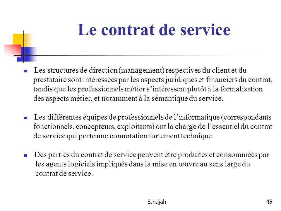 S.najah45 Les structures de direction (management) respectives du client et du prestataire sont intéressées par les aspects juridiques et financiers d