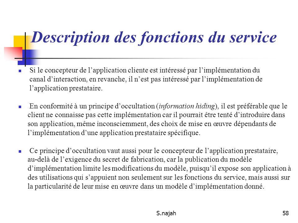 S.najah58 Si le concepteur de lapplication cliente est intéressé par limplémentation du canal dinteraction, en revanche, il nest pas intéressé par lim