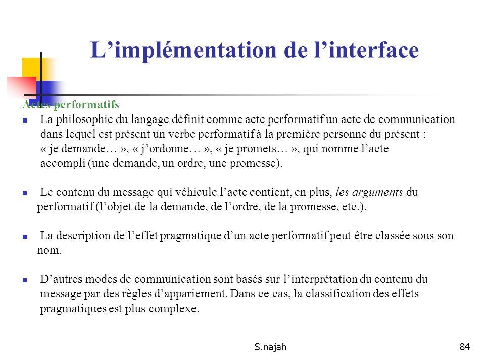 S.najah84 Actes performatifs La philosophie du langage définit comme acte performatif un acte de communication dans lequel est présent un verbe perfor