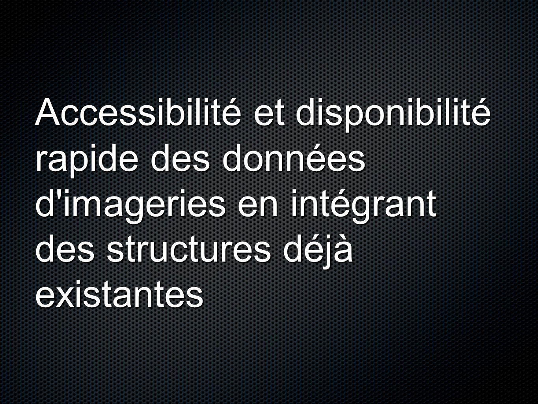 Accessibilité et disponibilité rapide des données d imageries en intégrant des structures déjà existantes