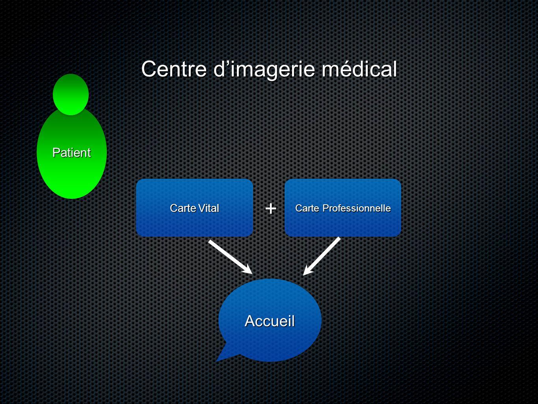 Carte Vital Carte Professionnelle + AccueilAccueil Centre dimagerie médical PatientPatient