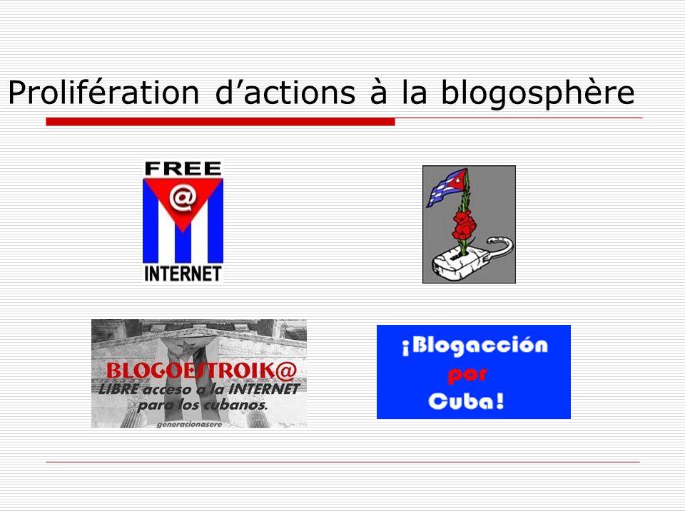 Prolifération dactions à la blogosphère